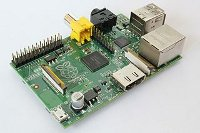 Photograph taken of a Raspberry Pi computer